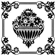 mod le de cadre fleur classique noir et blanc Banque d'images