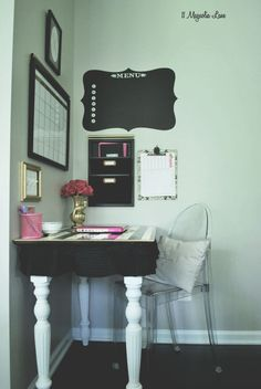 Operation Organization: Glam Black and White Command Center using Osborne Table Legs