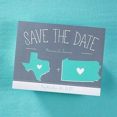 save your date with this super cute state inspired cards #state #savethedate #invitations #wedding http://watermarkstationery.com/galleries/save-the-dates/