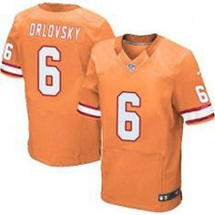 "$78.00--Dan Orlovsky Orange Elite Jersey - Nike Stitched Tampa Bay Buccaneers #6 Jeresey,Free Shipping! Buy it now:click on the picture, than click on ""visit aliexpress.com"" In the new page."