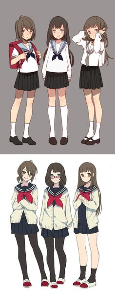 trendy drawing anime girl outfit school uniforms – My Best Ideas Manga Anime, Manga Girl, Anime Art, Chibi, Anime School Girl, Anime Girls, Anime Style, Character Inspiration, Character Art