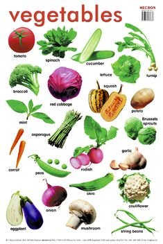 Can you name all the Cruciferous Vegetables in this picture? The improve liver function and attack cancer cells among other things! Kids English, English Tips, English Food, English Study, English Class, English Lessons, Learn English, English English, Green Vegetables Name