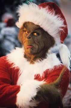 """That's a face only everybody can love. Jim Carrey in """"Dr. Seuss' How The Grinch Stole Christmas"""""""