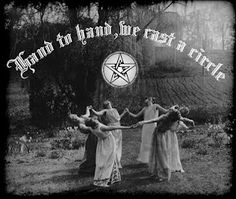 vintage photo witch witchcraft pagan wicca dance circle ritual
