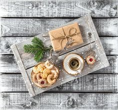 Christmas breakfast Cookie Coffee by LiliGraphie on @creativemarket