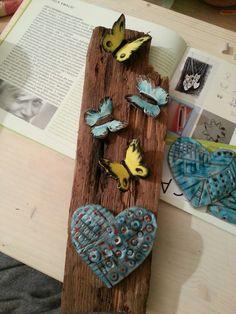 Laura Marmai farfalle ceramica su legno