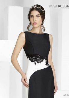 Stylish Dresses, Formal Dresses, Colorblock Dress, Colourful Outfits, Beautiful Dresses, Bridesmaid, Gowns, Black And White, Madrid