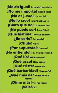 Webmail Mixmail Spanish Grammar, Spanish English, Spanish Language Learning, English Vocabulary Words, English Phrases, Learn English Words, Teaching Spanish, Useful Spanish Phrases, Spanish Activities