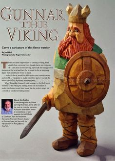 #2804 Viking - Carving Caricature - Wood Carving