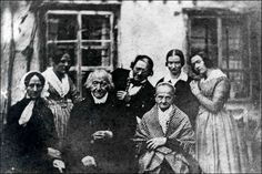 Constanze Weber was the widow of Wolfgang Amadeus Mozart. In this picture from 1840 she is shown in black on the left.