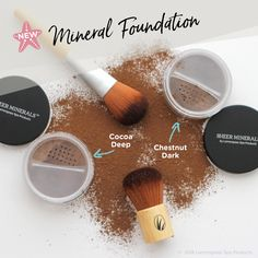 Illuminate warm and deep skin tones with Cocoa Deep and Chestnut Dark, the newest additions our Sheer Minerals Makeup