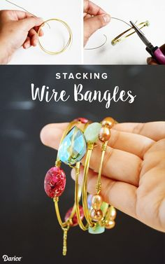 Learn how to make your own DIY bangles. They are easy to make, fun to customize and are a perfect accessory for a variety of outfits! #excellent #women #jewelry
