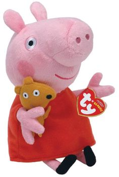 Amazon.com: Ty Peppa Pig UK Exclusive Beanie Baby Peppa Pig: Toys & Games