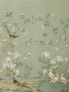 Absolutely love this asian wallpaper by Paul Montgomery Studio.  Bathroom? Bedroom?  Hallway?