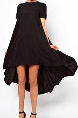 #MYTRENDTWOWARDROBE Asymmetric Pleated Sheer Black Dress perfect thrown on everyday essential!