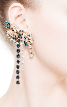 Large Swarovski-Crystal Right Ear Cuff by Bijoux Heart - Moda Operandi
