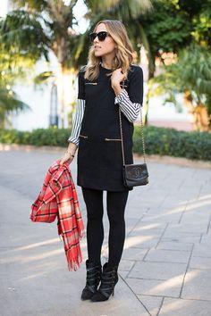17 Ways to Wear a Shirt Under Your Dress 準備好一起試試新鮮搭配了嗎?T-shirt 與洋裝的混搭術 | Popbee - 線上時尚生活雜誌