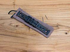 Sale Leather Watch Strap 22mm Vintage Style // black Color