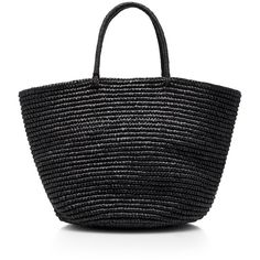Sensi Studio Straw Maxi Tote (26075 RSD) ❤ liked on Polyvore featuring bags, handbags, tote bags, straw tote bag, summer straw purses, tote bag purse, strap purse and straw tote