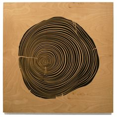 """Rings,"" (2003) Silkscreen on wood by Todd St. John"