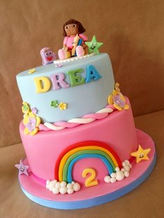 dora the explorer cakes Google Search Kid Kakes Pinterest
