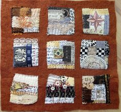 text on textiles: Passport by Jane LaFazio Fabric Art, Fabric Crafts, Sewing Crafts, Quilting Projects, Sewing Projects, Creative Textiles, Fabric Journals, Small Art, Mini Quilts