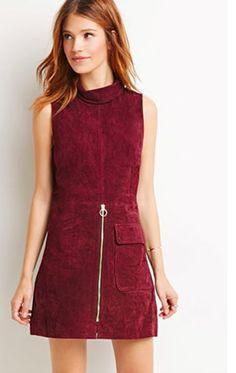 Forever 21 suede dress | trufflesandtrends.com