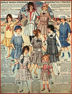 Girls' Wash Dresses, Eaton's Spring & Summer 1917 Catalog | by The Bees Knees Daily