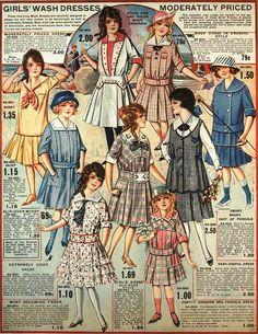 Girls' Wash Dresses, Eaton's Spring & Summer Catalog, 1917