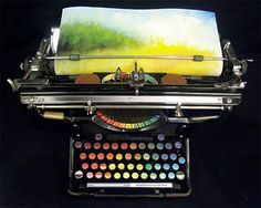 Chromatic Typewriter. American painter Tyree Callahan converted old typewriter from 1930s into a machine that prints colors instead of letters.