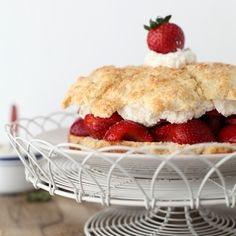 Strawberry Shortcake | Cake flour is the secret ingredient in this lusciously light shortcake. Make sure that you use pure cake flour as opposed to self-rising cake flour, which is similarly packaged. This dessert is at its best within 30 minutes of assembly.