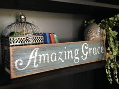 Rustic Reclaimed Wood Amazing Grace Sign by UpcycledBlessings
