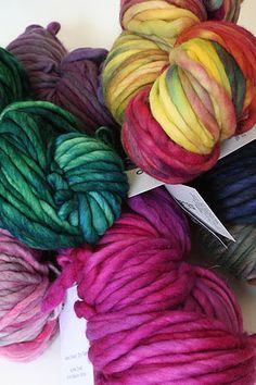 Malabrigo Rasta kettle dyed - love knitting with chunky wools