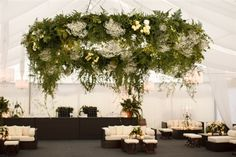 Secret garden sophistication with this gorgeously decorated marquee.  Love it!
