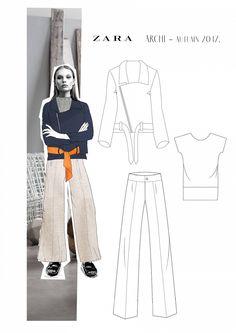 Scalloped-neckline tops Design By Adobe illustrator CC part- 1 Fashion Illustration Portfolio, Fashion Portfolio Layout, Fashion Design Sketches, Portfolio Design, Fashion Books, Fashion Art, Drawing Fashion, Fashion Outfits, Fashion Figures