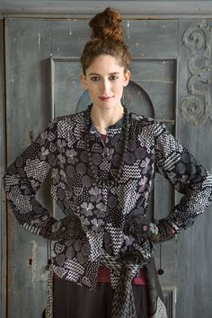 """Blouse """"Viola"""" has a lot of patterns. Just the way we want it."""