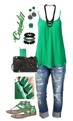 Emerald and Black by crzrdnk77 on Polyvore featuring ONLY, True Religion, John Lewis, Valentino, Smythson, Free People, Lindsay Vallan, Style Tryst, Chaumet and Lab