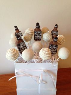 White Party featuring Jack Daniels Cake Pops!