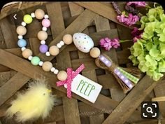 Easter Farmhouse Bead Garland PEEP Wood Bead Garland Farmhouse Beads *Includes Bead Garland Only* Wood Bead Garland, Diy Garland, Beaded Garland, Garland Ideas, Easter Projects, Easter Crafts, Easter Decor, Spring Crafts, Holiday Crafts