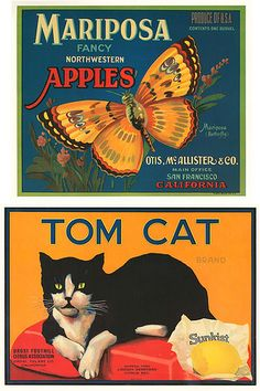 Vintage Labels E by Home and Heart, via Flickr