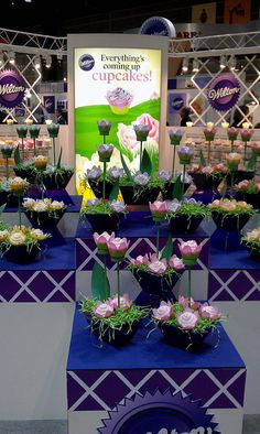 Wilton's Cupcake display at the International Home & Housewares Show in Chicago.