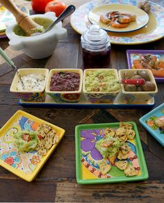 Tapas dips are easy to make and always fun! http://www.pfaltzgraff.com/patterns-and-collections/merisella%E2%84%A2