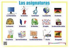 Este son algunas de las asignaturas de la escuela espanolas