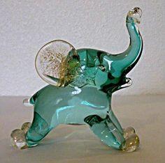 Sold. Archimede Seguso Murano Elephant Bluest Eye, Elephant Figurines, Glass Figurines, Fenton Glass, Glass Animals, Italian Art, Elephants, Pet Birds, Favorite Color