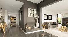 how wall color for open room blend