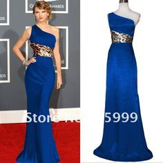 Free Shipping Royal Blue One Shoulder Party Prom Formal Gown Evening Women's Dresses JH042 US $89.99