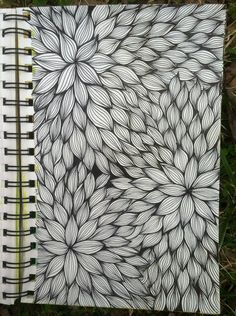 Sketchbook : Floral Line Weaving @ blog.kitskorner.com