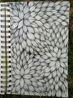 Sketchbook : Floral Line Weaving @ blog.kitskorner.com