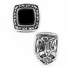 Scott Kay Sparta Onyx Cufflinks #mens #blacktie #redcarpet #oscars #hollywood #style #fashion #accessories   --  $450