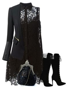 """""""Autumn Lace Dress"""" by chimechn ❤ liked on Polyvore featuring Dolce&Gabbana"""